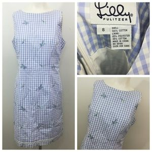 Lilly Pulitzer Gingham Sheath Dress Size 8 Floral